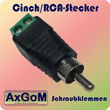 Cinch-Stecker - Schraubklemme  - RCA m - 3,5 oder 10 Stück - Audio + Video
