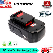 18V 18Volt 2.0Ah Battery For PORTER CABLE PC18B PC18B-2 Cordless Battery Pack US