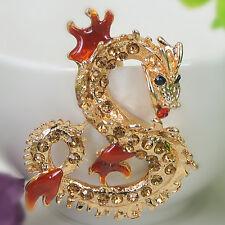 T Dragon Keyring Rhinestone Crystal Pendant Bag Keychain Christmas Lover Gift