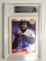 1990 Fleer Lee Smith Autograph Card Signed Cubs Red Sox Orioles Auto HOF BGS/BAS