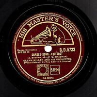 1942  GLENN MILLER  78  CRADLE SONG / ELMER'S TUNE   UK HMV BD 5733   V/V+