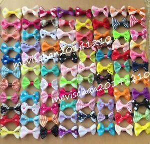 100pcs/lot Kids Girls hair Accessories Baby Hair Clip Barrette bow hairpins