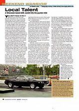 1973 AMC JAVELIN DRAG RACING  ~  NICE WEEKEND WARRIOR ARTICLE / AD