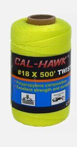 Cal-Hawk Entortillé Maçon Ligne 5.5x152m Vert Citron