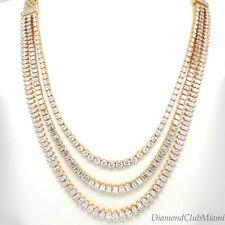 Estate 33.36ct Graduated Diamond 18kt Gold Detachable  Necklace 86.4 grams