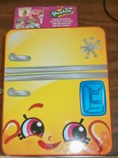 SHOPKINS COLLECTOR'S REFRIGERATOR LUNCH BOX!  with Top Trumps Card Game! NEW!!!