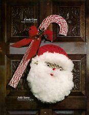 Jolly Santa & Candy Cane Wall Decor Patterns #405 Christmas Macrame Album