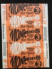 A&BC 1967 The Monkees Real Photo's 3d Wax Gum Card Wrapper - Orange Variant