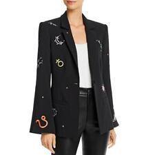 Cinq a Sept Womens Astro Rumi Black Office One-Button Blazer Jacket 0 BHFO 3208