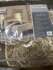 Madison Park Jacquard Paisley 24PC Comforter Set - Brown - Size: Queen