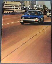 1984 Honda Civic Catalog Sales Brochure CRX S Hatchback Excellent Original 84