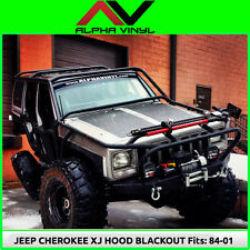 Hood Blackout Decal Matte Black Out w/ install kit Fit: Jeep Cherokee XJ 84-01