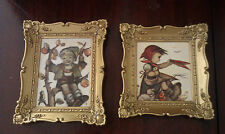 "Lot Of 2 Mini Hummel Wall Hanging Collectible ~ Approx. 4 1/2"" X 5 1/2"""