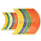"15"" 18"" Motorcycle Wheel Rim Stripe Reflective Decal Tape Sticker Multi Color"