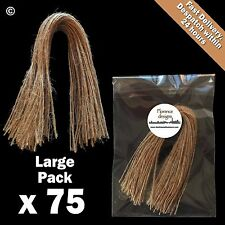 75 x Natural 1-Ply Rustic String/Twine/Hessian for Wedding/Gift/Crafts Hang Tags