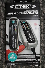 NEW CTEK MUS 4.3 Test & Charge 12 volt smart battery charger and maintainer