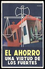 1937 CAJA NACIONAL DE AHORRO POSTAL Buenos Aires BOOKLET Postal Code DELL'ACQUA