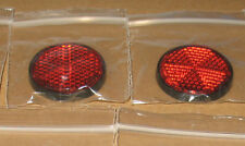 2 stick on round red reflector motorbike bike mot trailers  mot legal 031