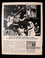 1966 Billy Cunningham 76'ers Basketball~Wilson Sports Memorabilia Photo Print Ad