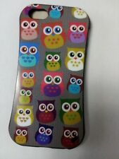 OWL PRINT BACK CASE COVER for iPhone SE / 5 / 5s WITH SCREEN PROTECTOR