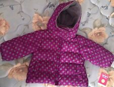NWT Carters 12 Month Purple/Grey Polka Dots Winter Parka