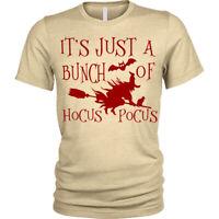 Hocus Pocus Halloween T-Shirt witch broomstick Mens Tee