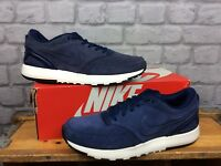 NIKE MENS UK 8 EU 42.5 NAVY BLUE WHITE SUEDE AIR VIBENNA TRAINERS