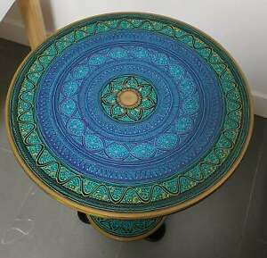 Wooden Coffee Table / Side Table - Round Handmade | Free Postage