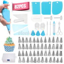 82pcs Cake Decorating Supplies Kit Baking Tool Piping Icing Tips Bag Nozzles Set