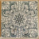 Arts   Crafts Blue   white Tile  Craven Dunnill  C1900