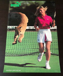 MARTINA NAVRATILOVA for PUMA Athletic Shoes POSTER 1970s