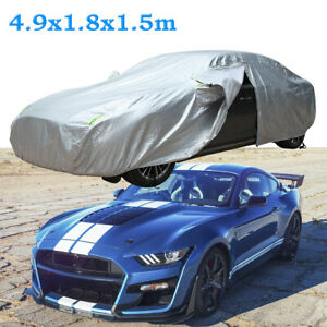 """For Ford Mustang GT 193"""" Full Car Cover Sun Rain Snow Proof Outdoor Waterproof"""