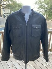 Original Sean John Black Leather Jacket Size: Large Great Condition