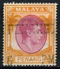 Malaysian States Penang 1949-52 SG#16, 25c Purple And Orange KGVI Used #D46349