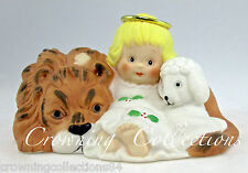 1991 Enesco Holly Babes Angel with the Lion and the Lamb Figurine Ruth Morehead