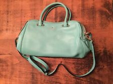 Kate Spade Leather Small Elodie Arbour Hill Teal Blue Tote Bag