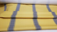 "Designer Fabric, stripe 7"" ,  yellow, 54"" wide, sold by yard"
