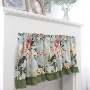 Kitchen Dining Half Boho Print Short Curtains Window Drapes Cabinet Door Valance