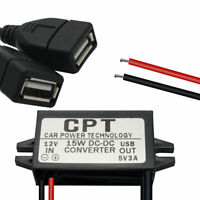 12V-5V 3A 15W Adaptateur d'alimentation Connecteur de convertisseur DC pour GPS