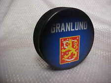 2016 World Cup of Hockey Team Finland Mikael Granlund Souvenir Hockey Puck