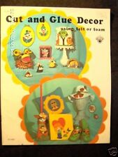 """Vintage How to """"Felt & Foam Art Craft Book"""" published in 1973"""