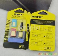 Nano SIM Card to Micro Standard Adapter Converter Set For iPhone  5 6 7 Samsung