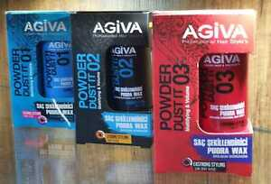 AGIVA HAIR STYLING POWDER NO:1 FLEXIBLE NO:2 STRONG NO:3 EXTRA STRONG 20GR