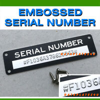 STAMPED SERIAL NUMBER DATA PLATE VIN TAG EMBOSSED HOT RAT ROD CHEVROLET  FORD
