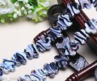 5pcs 20mm Flowers White Stripes Lampwork Glass Beads Jewelry Charm Bluish Violet