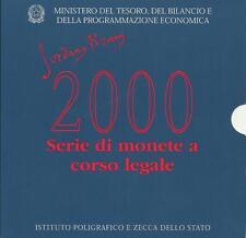 ITALIA REPUBBLICA 2000 DIVISIONALE SERIE ZECCA GIORDANO BRUNO FDC