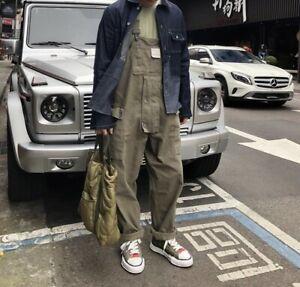 Chic Women Men Loose Cargo Tooling Overalls Jumpsuit Pocket Hip Hop Romper Retro