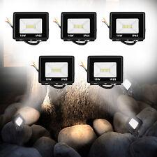 5x10W LED Fluter Außenstrahler Scheinwerfer Gartenlampe Warm/Weiß Flutlicht Neu