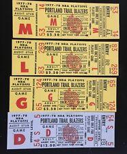 Portland Trail Blazers NBA Phantom PLAYOFF Tickets 1977-78 4 Unused