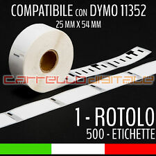 1 ROTOLO Etichette Compatibili con DYMO 11352 54 mm X 25 mm LABELWRITER 400 450